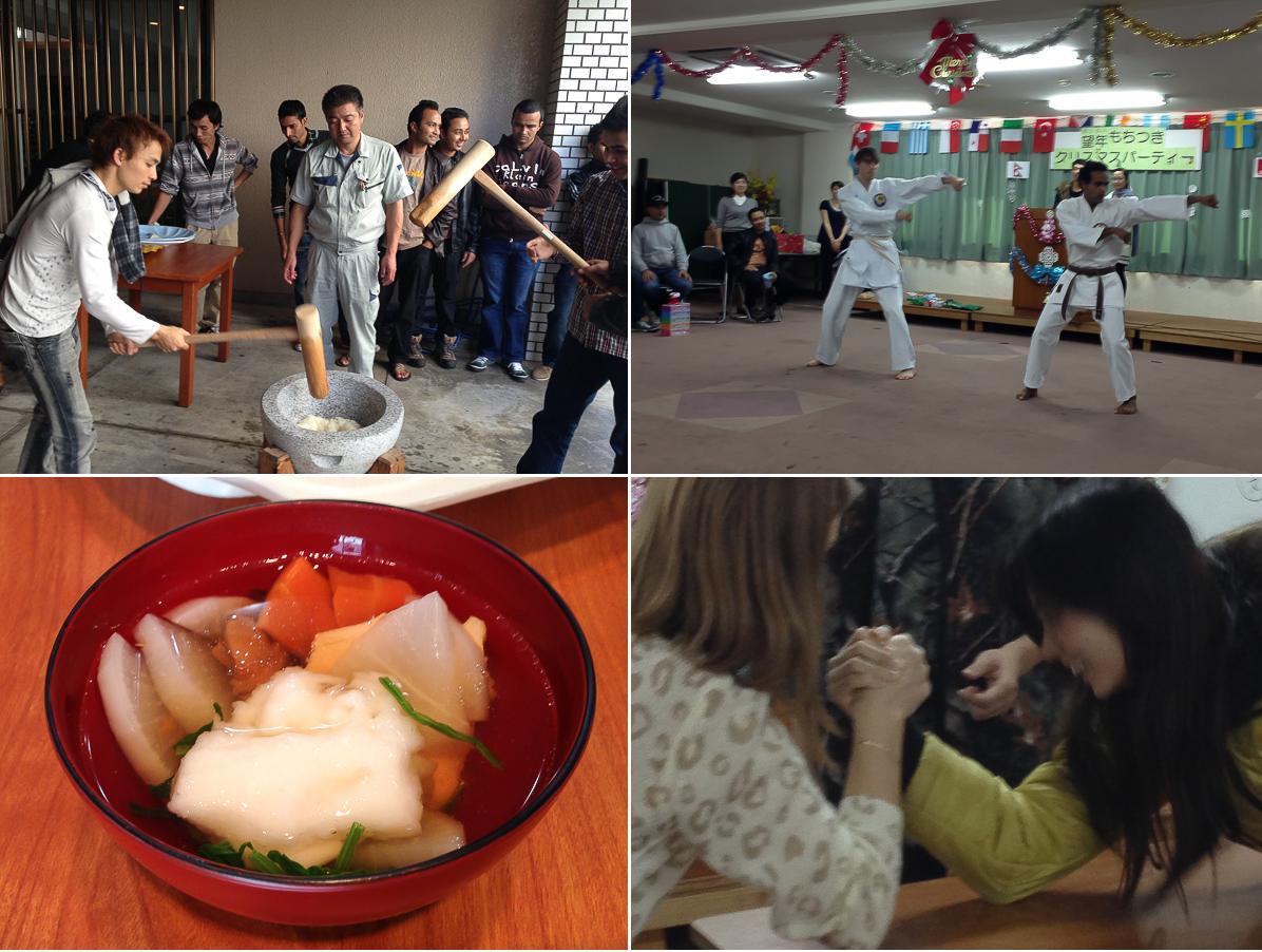 Рождественская вечеринка в языковой школе на Окинаве