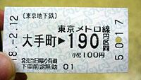 Билет на японское метро